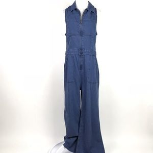 Free People The Wind & More Retro Denim Jumpsuit
